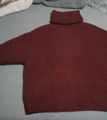Zara pulover bordo