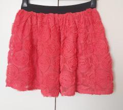 Suknja s 4D ružama