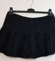 Terranova ženska crna plisirana mini suknja