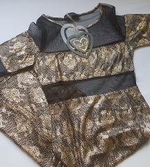 ► CLUB L ‒ crno-zlatna haljina · NOVO!