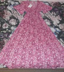 Nova duga floral ružičasta haljina