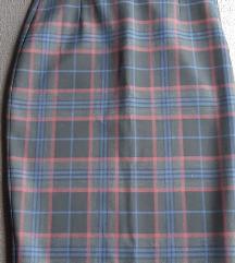 Zara pencil karirana suknja