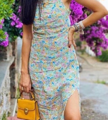 Ljetna duga drapirana haljina