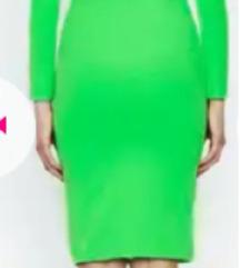 Neon zelena haljina otvorenih leđa