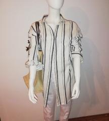 Mango košulja oversize i Sisley ceker
