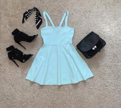 H&M tirkizna haljina