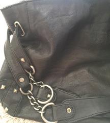 Crna kožna torba IKKS