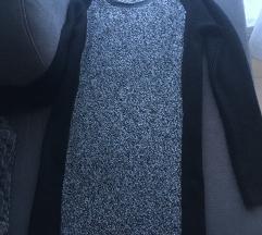 NOVO!! Crna midi haljina (PT uklj)