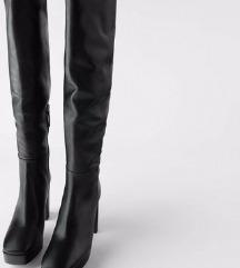 Zara kožne čizme iznad koljena