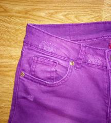 H&M ljubičaste skinny traperice