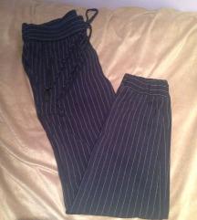 Mango plave prugaste pinstripe hlače S XS