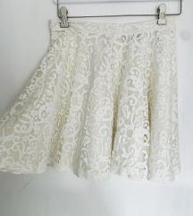 50 KN %H&m bijela skater suknja sa čipkom - novo