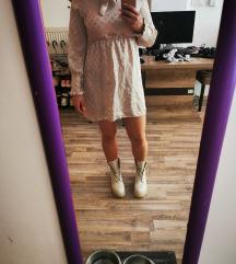 Satenska bež haljina