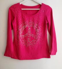 PINK majica glitter vel. 38/M