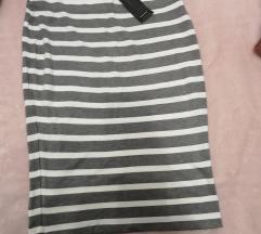 prugasta pencil suknja XL