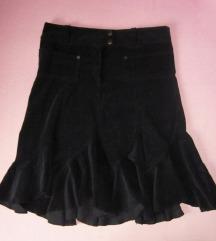 Crna samtasta suknja  - SNIŽENO!!