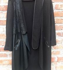 LAMARKINE crni otkačeni kaputić