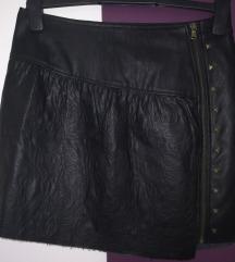 Kožna suknja sisley