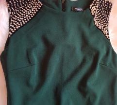 Zelena haljina sa biserima