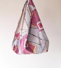 Origami platnena torba - unikat