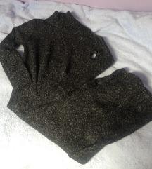 Zara duga pletena siva haljina dolčevita S