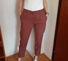 Smeđe calliope lanene hlače