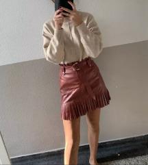 Kožna suknja like zara
