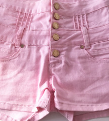 Roze kratke hlače visoki struk