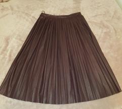 Kožna plisirana suknja MOHITO - novo!!