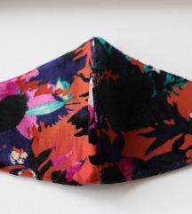 Ručno rađena šarena maska za lice sa baršunom