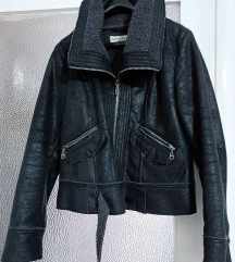 ženska zimska jakna imitacija brušene kože