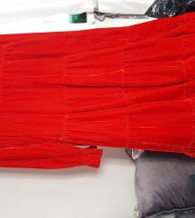 Haljina crvena barsun br. M
