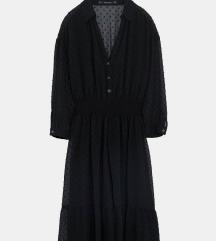 Crna mesh haljina