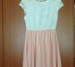 Svečana rozo-bijela haljina