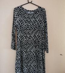 Crno-bijela haljina/tunika M/L