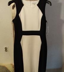 Calvin Klein crno-bijela haljina