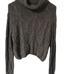 Hollister crop knit pulover XS/S