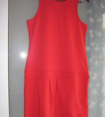 Nova crvena uska haljina bez rukava vel. 38