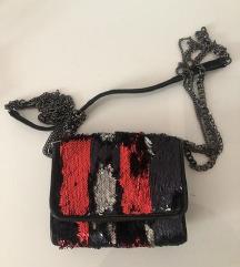 Zara šljokičava torbica