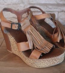 Ljetne Pitarosso ženske kožne sandale na petu