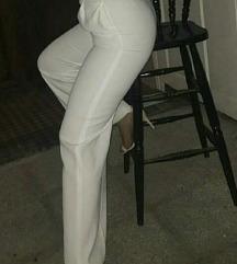 Zara palazzo bijeli hlace