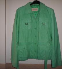 LEONARDO odlična nova zelena kožna jakna vel.38