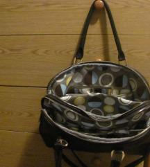 Velika crna torba s novčanikom