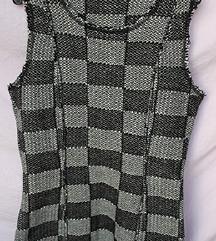 Snizenje 50% nova Sisley crno siva zimska haljina!