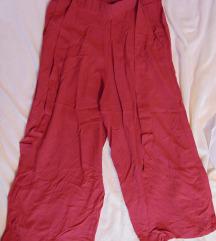 Tamno crvene capri ženske hlače