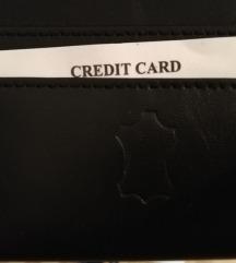 Kožni crni novčanik