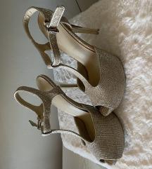 Zlatne sandale sa platformom