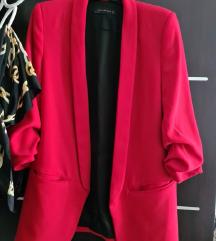Zara crveni sako/blazer XS placen 500 kn