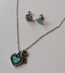 Ogrlica i naušnice, like Tiffany&Co