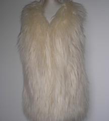 Vera Lucy prsluk krzneni bunda bez rukava